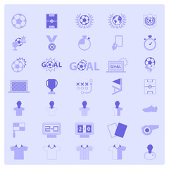 Soccer sports icon set