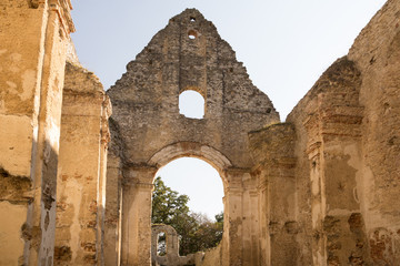 ruins of ancient monastery