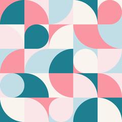 Seamless blue-red pastel abstract geometric print. Vector multi colored illustration. Original geometric pattern. ESP10.