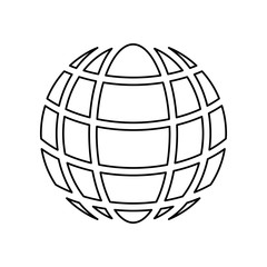 globe symbol sign icon. Simple outline vector of web, minimalistic set for UI and UX, website or mobile application