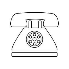 retro phone icon. Simple outline vector of web, minimalistic set for UI and UX, website or mobile application