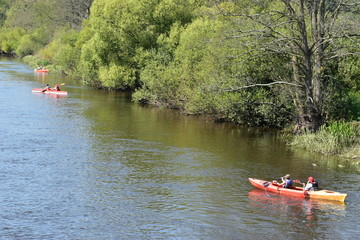 spływ kajakowy rzeką