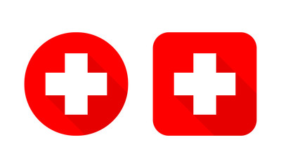 Set of Medical crosses. Vector illustration.