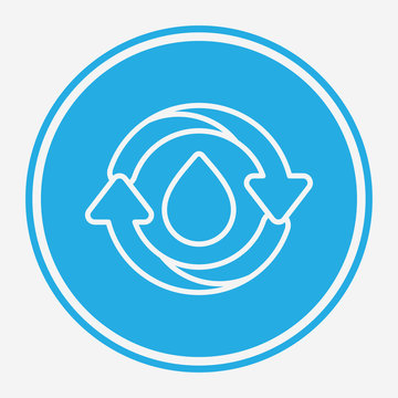 Reuse water vector icon sign symbol