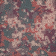 Abstract colored camouflage pattern. Futuristic composition background. Labyrinth concept. 3D rendering