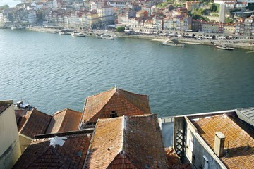 colorful houses of porto at the douro river