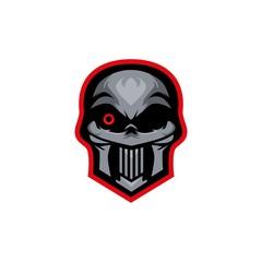 skull head esport logo