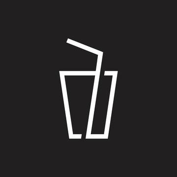 glass andd a straw geometric line logo