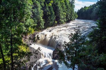Potawatomi Falls near the shores of Lake Superior at Bessemer, Michigan