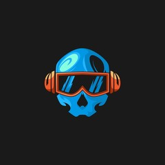 skull head gaming logo