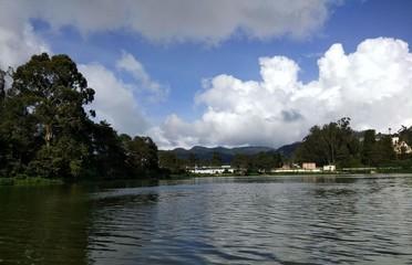 Lake Cloud Landscape Scenery