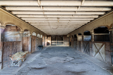 Inside an historic Victorian Horse Barn at Wilder Ranch. Wilder Ranch State Park, Santa Cruz, California, USA.