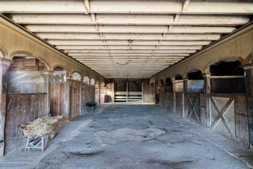 Inside an historic Victorian Horse Barn at Wilder Ranch. Wilder Ranch State Park, Santa Cruz, California, USA.