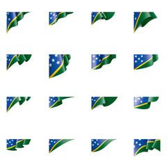 Solomon Islands flag, vector illustration on a white background