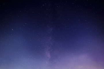 Milky way in the smoke with grain