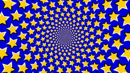 Sterne optische Täuschung Endlos