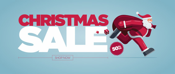 Christmas Sale Concept Design Banner