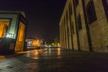 Konstantinbasilika in Trier bei Nacht