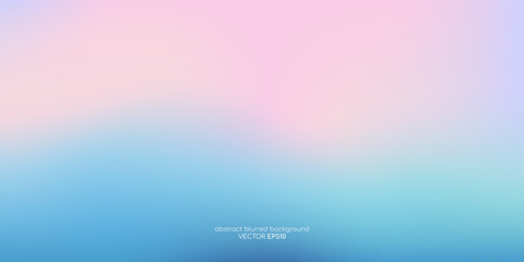 Vector abstract colorful background blurred gradient pastel color palette Wall mural
