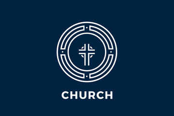 The logo for the Church in the circle