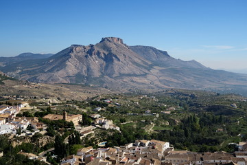 Paysage de Velez-Blanco, vue aérienne