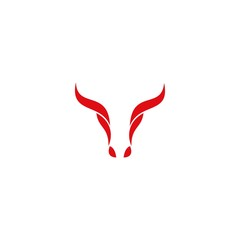 Bull head vector. bull logo design.