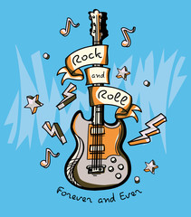 Music design - rock and roll guitar