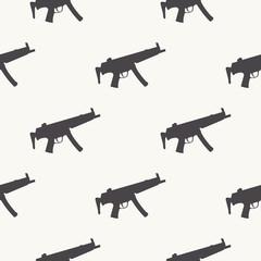Machine guns pattern pattern on white background