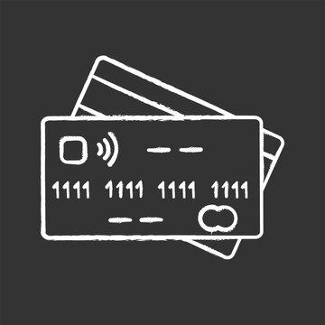 NFC credit card chalk icon