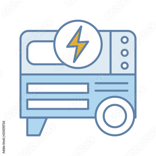 Power generator icon Gas Portable Power Generator Color Icon Gograph Portable Power Generator Color Icon