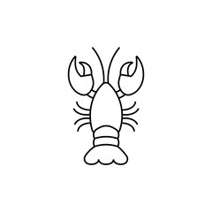 Lobster linear icon. Lobster concept stroke symbol design. Thin graphic elements vector illustration, outline pattern on a white background, eps 10.