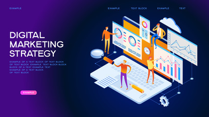 Marketing digital strategy Web Banner