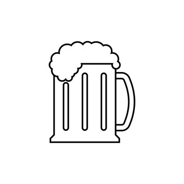 Beer mug outline icon. linear style sign for mobile concept and web design. Glass of beer simple line vector icon. Symbol, logo illustration. Pixel perfect vector graphics
