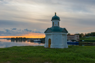 Chapel of Alexander Nevsky of the Spaso-Preobrazhensky Solovetsky Monastery. Embankment of Prosperity Bay, Solovki Islands, Arkhangelsk region, White Sea