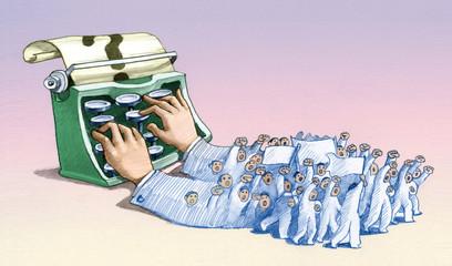 the inherits of journalist political illustration
