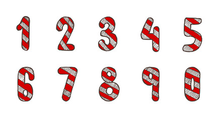 Christmas Drawing Numbers