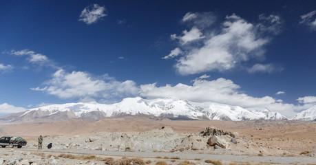 Mountain panorama - Karakorum Highway V (Xinjiang, China)