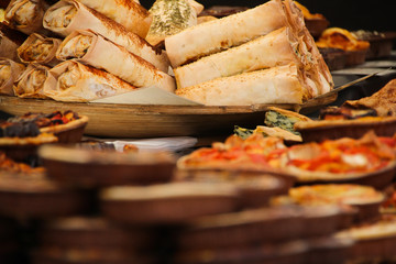 Tasty snacks in Borough Market, London