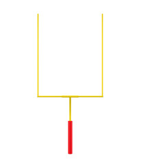 American Football Goal Post Isolated