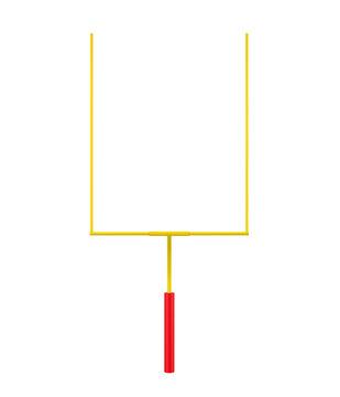 American Football Goal Post Isolated