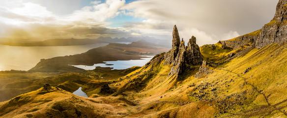 The Old Man of Storr, Schottland, Isle of Skye Panorama