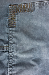 clothing items washed cotton fabric texture with seams