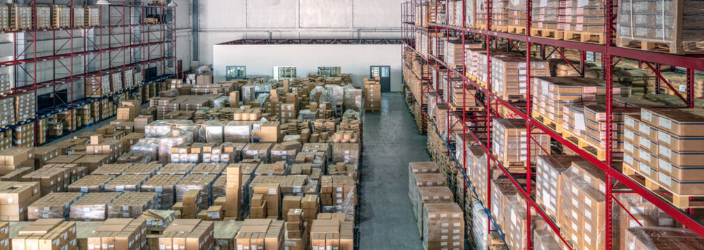 Logistics warehouse interior