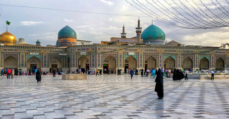 Around the Shrine complex. Haram e Razavi. Mashhad. Iran.