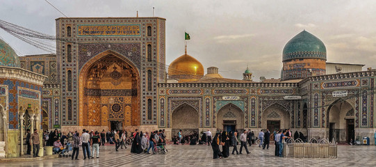 Around the Shrine complex. Haram e Razavi. Mashhad. Iran.