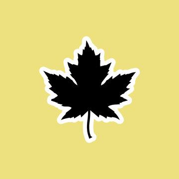 maple leaf icon. vector illustration