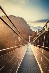 Spoed Foto op Canvas Brug Highline179 Suspension bridge near Reutte, Austria
