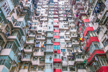 Dense residential building in Hong Kong