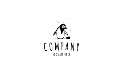 Funny Penguin vector logo image