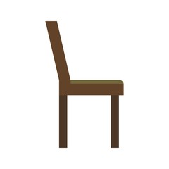 chair  flat multi color icon